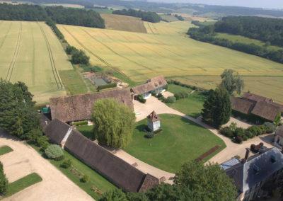 Vue aérienne de la Grange de bourgoult
